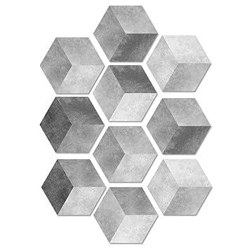 Dmmash Fliesen Aufkleber Wandaufkleber Farbverlauf Grau Zement