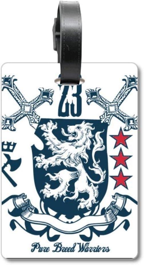 Sword Medieval Knights of Europe - Etiqueta de identificación para Maleta, diseño de león