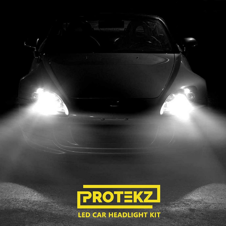 Protekz 6K Wht LED Foglight Kit for 2008-2015 Mitsubishi LANCER H11 Bulbs