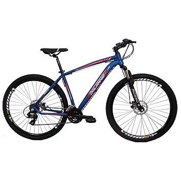 0515c75b6 Bicicleta Aro 29 Alumínio 21V Duplo Freio a Disco Trail Azul  Amazon ...