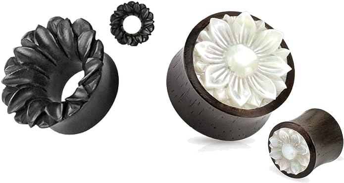 I Heart Mom Hollow Steel Double Flared WildKlass Ear Gauge Plug Sold as Pairs