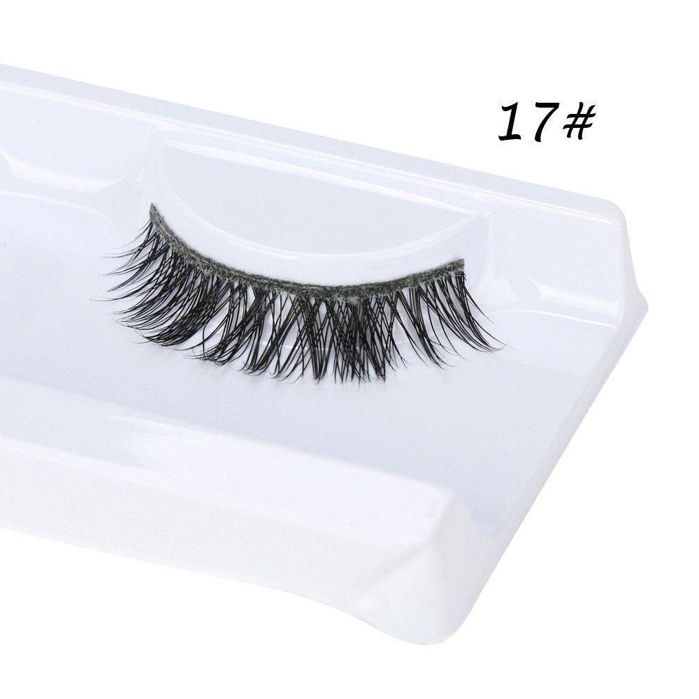 34c66f954d1 Amazon.com : WENSY 1 Pairs 3D Mink Hair False Eyelashes Natural  Hypoallergenic Thick False Eyelash Eyelash Makeup Eye Makeup : Beauty