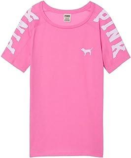 b16793e8f19c1 Amazon.com: VS Pink Victoria's Secret Pink Perfect Crew Tee Shirt ...