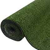 SKB Family Artificial Grass 3.3'x49.2'/0.3''-0.4'' Green Indoor and Outdoor Garden Wedding Plant