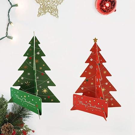 Toyvian 2 Piezas árbol de Papel de Navidad Centro de Mesa de ...