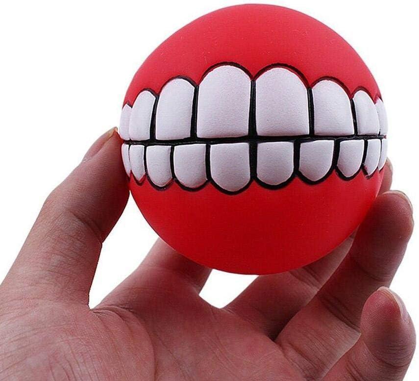sonido regalos chirriar color aleatorio bolas de goma blandas jugar buscar entrenamiento para masticar morder juguete interactivo para mascotas 1 pieza de dientes divertidos indestructibles