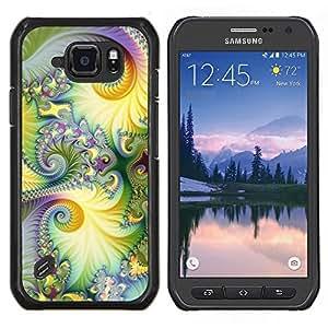Stuss Case / Funda Carcasa protectora - Floral púrpura verde Lsd Hippie psicodélico - Samsung Galaxy S6 Active G890A