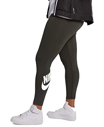 cf8b24fe17df8 Nike Women's Plus Size High-Waist Leg-a-See Leggings, Olive Green, 3X at  Amazon Women's Clothing store: