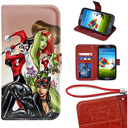 Samsung Galaxy S7 Edge Wallet Case, Onelee - Poison Ivy Premium PU Leather Case Wallet Flip Stand Case Cover for Sales