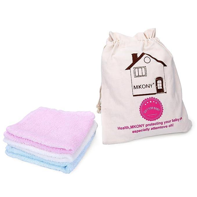 mkony bambú Paños de bebé (6-Pack) - 100% Natural PREMIUM Extra Suave & absorbente toallas para la piel sensible del bebé - regalo perfecto de 10