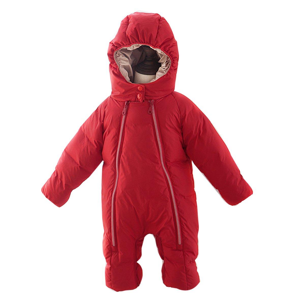 Bebone Newborn Baby Hooded Winter Puffer Snowsuit Outwear