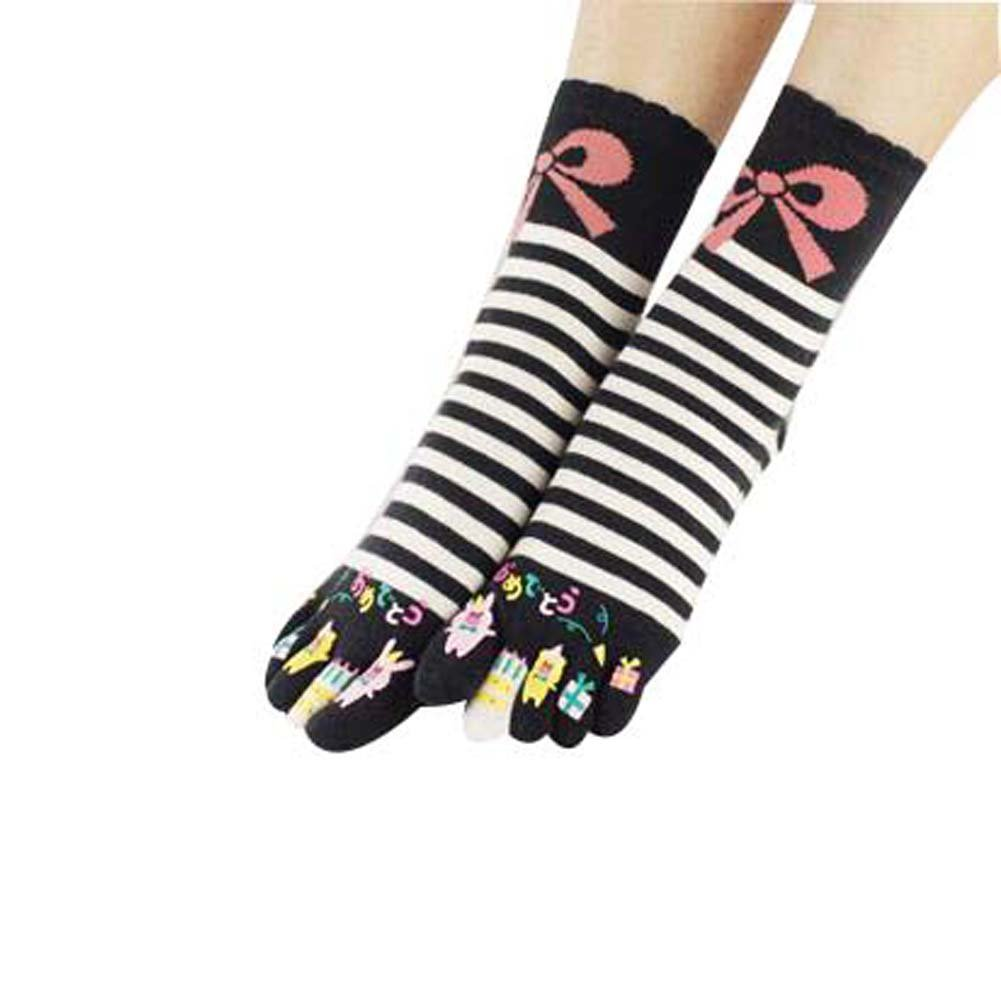 Middle Tube Sport Running Five Finger Zeh Socken Baumwolle Crew Toe Socken für Mädchen Blancho Bedding