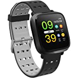 FIADO Charge-FIT PRO Sports Smart Band Color Screen with Heart Rate Moniter Blood Pressure (Grey Black)