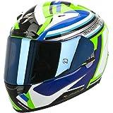 Scorpion EXO-2000 EVO AIR Avenger Helm, Farbe neongrün-blau, Größe M (57/58)
