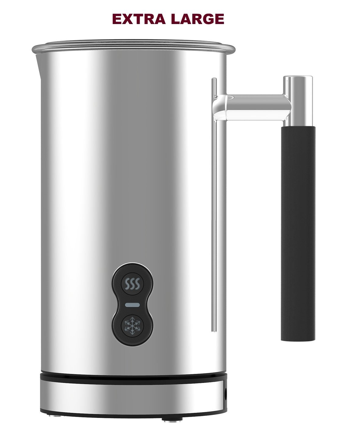 CAFE CASA Premium EXTRA LARGE Stainless Steel Electric Milk Frother: Dual Function - Foams milk and also can warm milk for Lattes and Cappuccinos