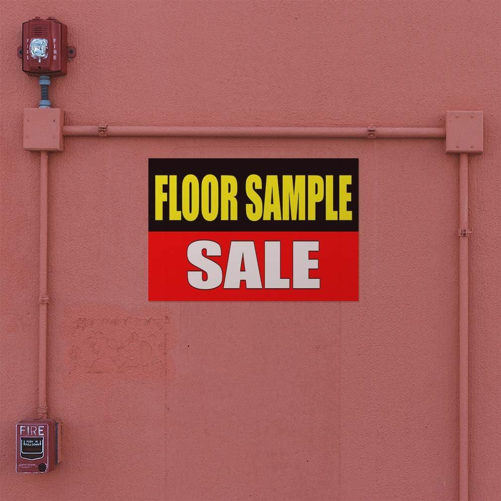 Decal Sticker Multiple Sizes Floor Sample Sale Black red Business Floor Model Outdoor Store Sign Black One Sticker 69inx46in