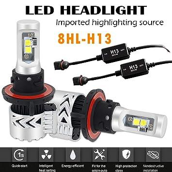 AUSI 2x 9008 H13 LED Bombillas Lamparas de Luces Faros del Coche 12000LM Canbus: Amazon.es: Coche y moto