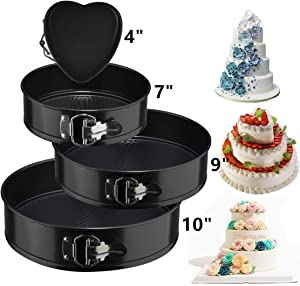 Springform-Cake-Pan-Set-3pcs-Round-7-9-10-Inch