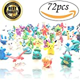 TobiNCraft Pokemon Mini Action Figures Set: Full 72-Pack Rare 2-3cm Figurine Set, Pikachu Included/ Superior PVC Manufacture, Great Value Set/ The Perfect Toy Gift for Kids
