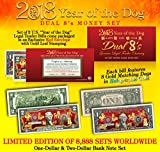 2018 YEAR OF THE DOG DUAL 8's Chinese New Year OFFICIAL CURRENCY US Bill Set