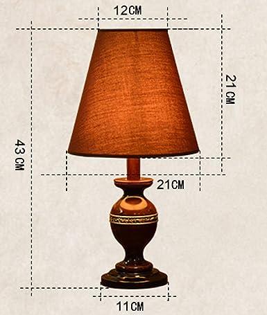 Lámpara de mesa Retro Pastoral Europeo cálido dormitorio ...