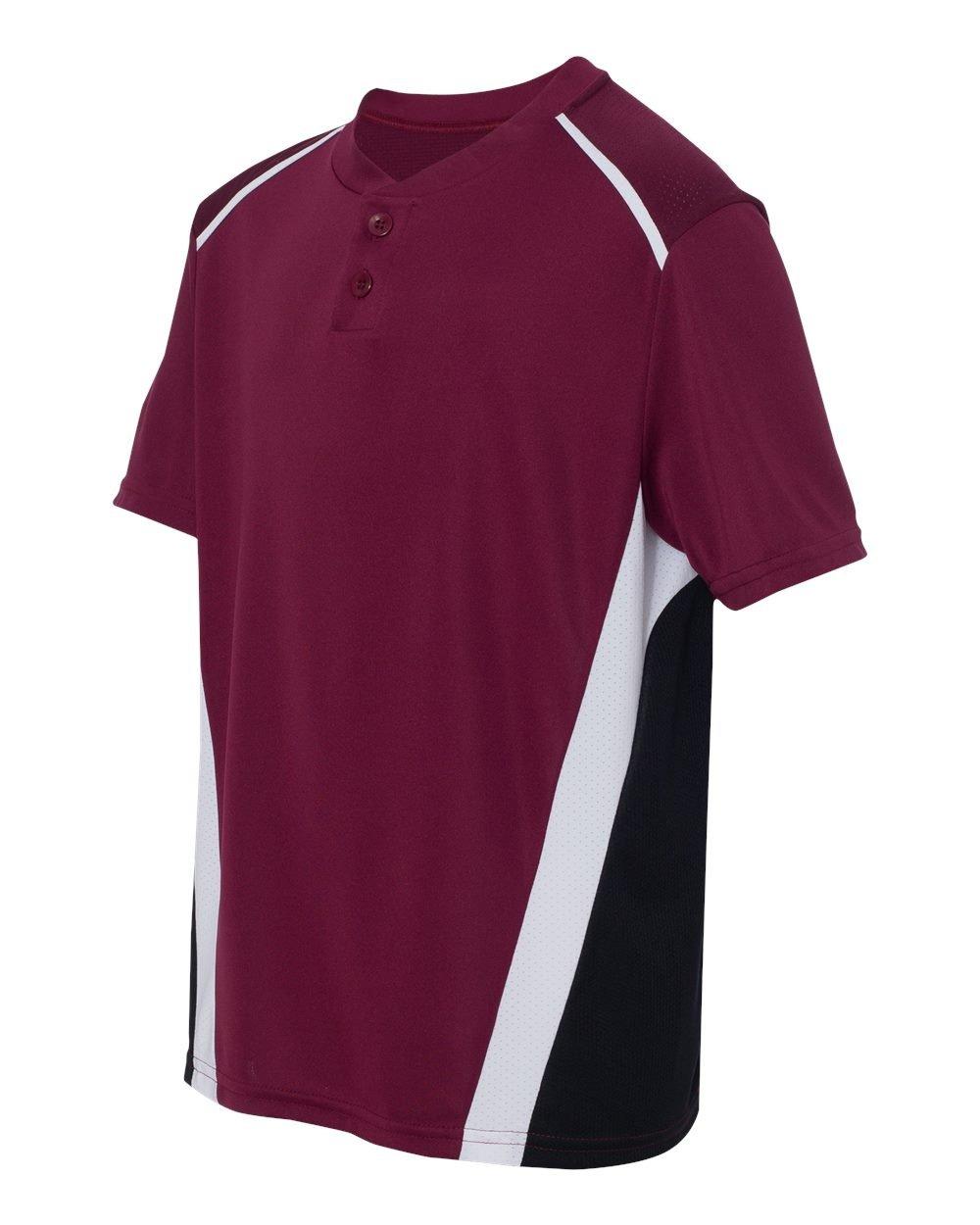 Augusta Sportswear Boys ' RBI野球ジャージー B00E1YUJ52 Medium|マルーン/ブラック/ホワイト マルーン/ブラック/ホワイト Medium
