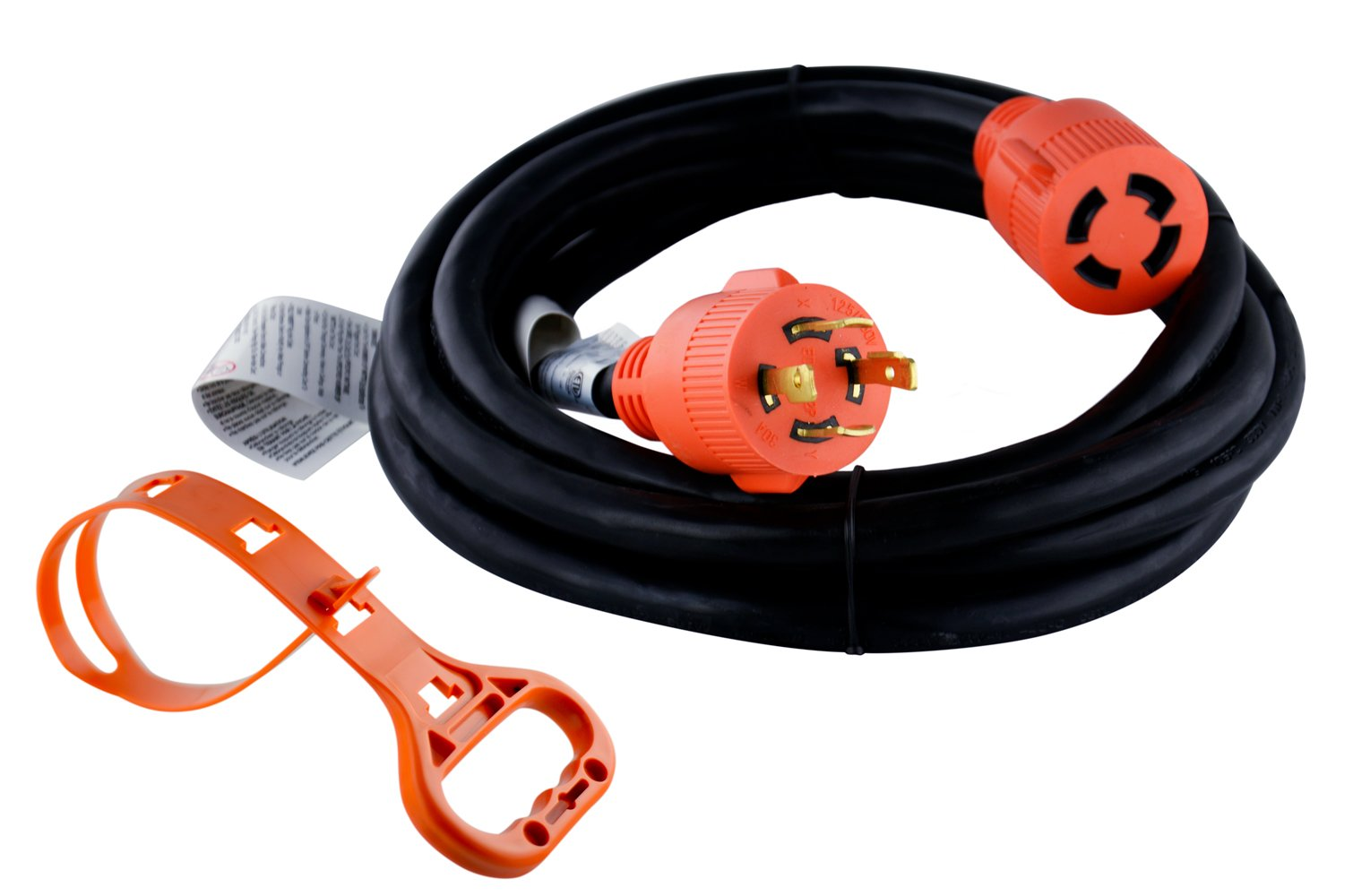 GoWISE Power Generator Extension Cord w/ Cord Organizer (L14 30AMP/4 PRONGS - 10 FEET) by GoWISE Power