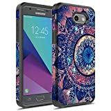 J7 V Case, Galaxy J7 Prime Case, Galaxy J7 Sky Pro Case, Galaxy J7 Perx Case, Galaxy Halo Case, Rosebono Dual Layer Shockproof Hard Cover Graphic Case for SM-J727 (Mandala)