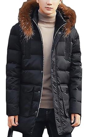 GenericMen Winter Outwear Warm Mid-Long Thicken Down Coat