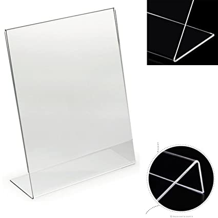 A5 Acrylic Price Tag Display Stand Plastic Menu Stand Frame Picture Holder Advertising Menu Poster Display Rack Desk Sign Holder Price Remains Stable Card Holder & Note Holder Office & School Supplies
