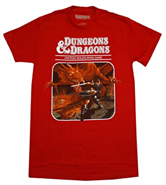 ca68f54a Dungeons & Dragons Fantasy Roleplaying Game Adult T-Shirt - Red (XXX-Large
