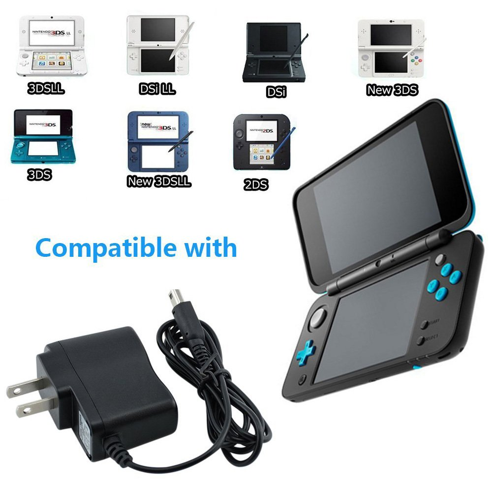 Amazon.com: Cargador 3DS, adaptador de CA para Nintendo 3DS ...