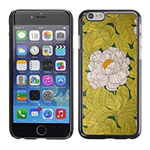 Planetar® ( Begonia Flower White Yellow Vintage ) Apple (5.5 inches!!!) iPhone 6+ Plus / 6S+ Plus Fundas Cover Cubre Hard Case Cover