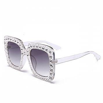 ZUTYJ Gran Caja Cuadrada Gafas de Sol de Color Femenino ...