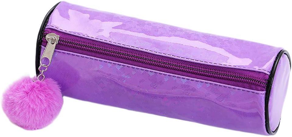 Mackur - Estuche transparente para lápices, para guardar cosméticos, para la escuela, la oficina, 21 x 8 cm, 1 unidad 21 * 8 cm morado: Amazon.es: Hogar