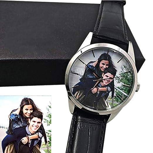 Reloj Fotográfico Personalizado Reloj Artesanal con Foto Personalizada Reloj de Hombre Relojes de Cuarzo Reloj de Pulsera para Hombre Unisex Mensaje Grabado ...