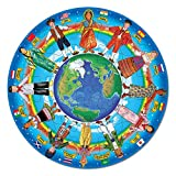 """Melissa & Doug Children of the World Floor Puzzle (Easy-Clean Surface, Promotes Hand-Eye Coordination, 48 Pieces, 32"""" diameter, Great Gift for Girls and Boys - Best for 3, 4, 5, and 6 Year Olds)"""