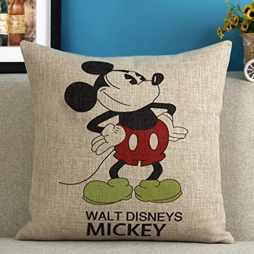 B Lyster shop Mickey Mouse N036 Cotton & Polyester Soft Zippered Cushion Throw Case Pillow Case Cover ()