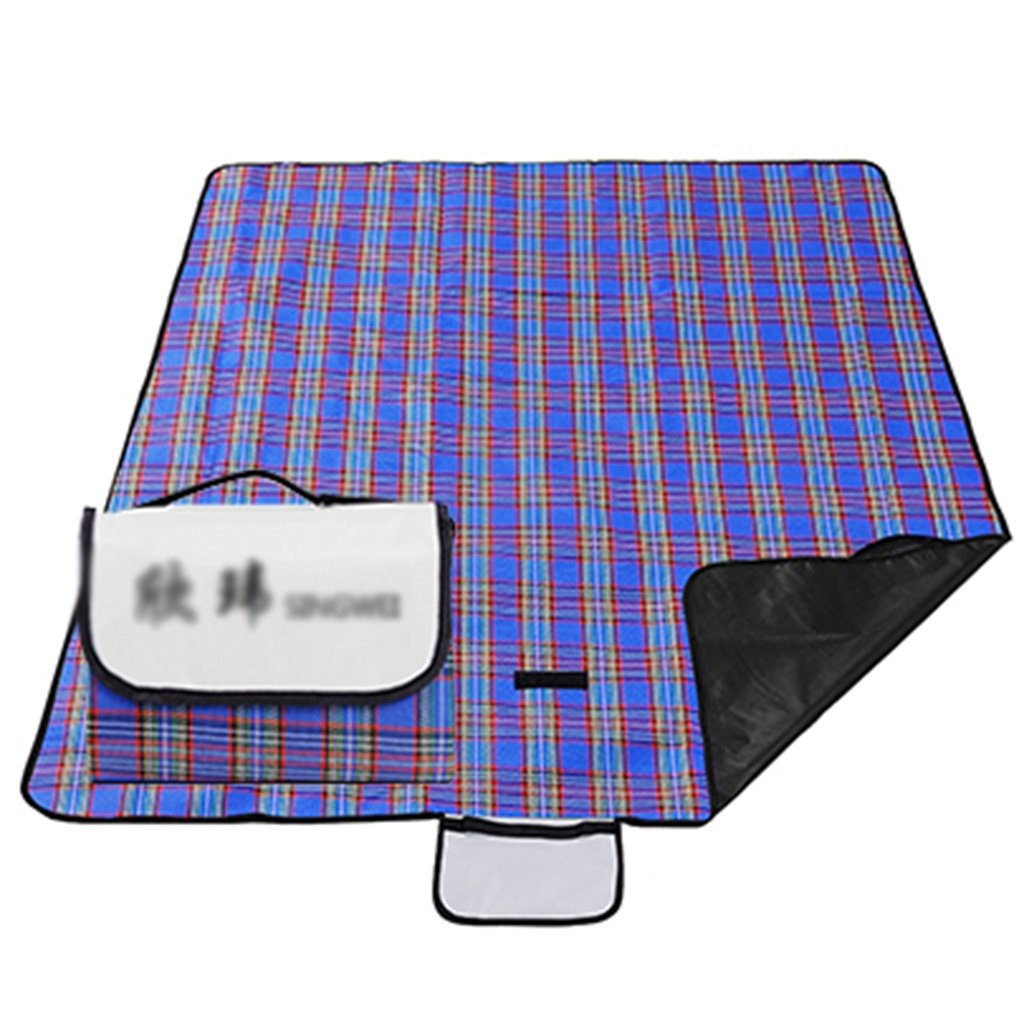 TYJ Picknick-Decken Picknick-Matten Feuchtigkeitsfeste Pad Outdoor Oxford Cloth Portable 3 -4 Menschen Beach Blue