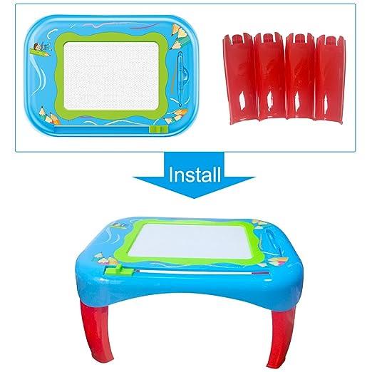 YIMA TOYS Tabla de Dibujo magnética, Colorida, borrable, con Dibujo de Dibujo, para Niños, Color Azul: Amazon.es: Juguetes y juegos