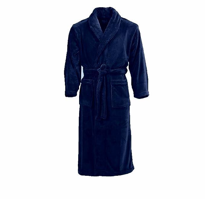 classic styles 100% quality quarantee cheapest price Mens Bathrobe 2xl 3xl 4xl 5xl 6xl 7xl 8xl Kingsize Quality Supersoft (navy  blue)