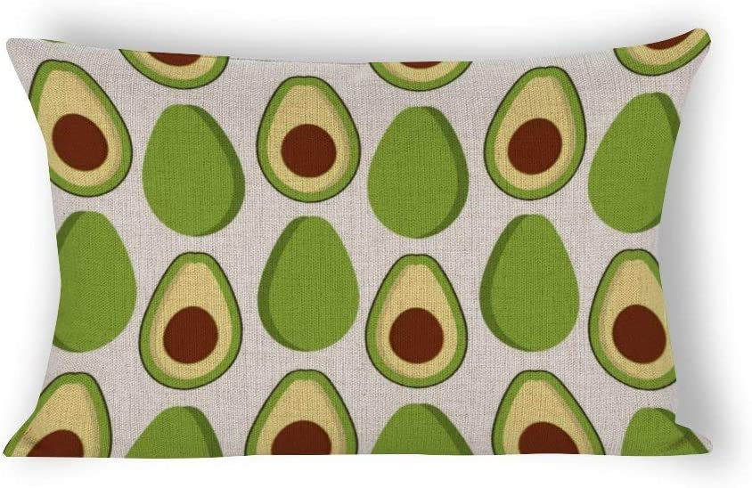 Amazon Com Avocado Fruits Background Linen Lumbar Pillow Covers 12 X 24 Farmhouse Decorative Throw Pillows Case Cover For Couch Home Kitchen