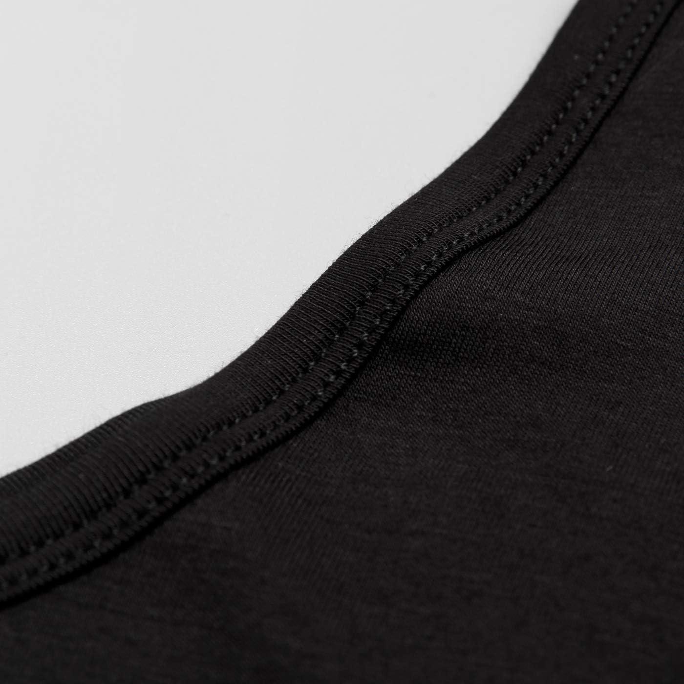 Mcilia Damen Ultrad/ünnes Thermo-Unterhemd aus Modal mit Rundhalsausschnitt und langem /Ärmel