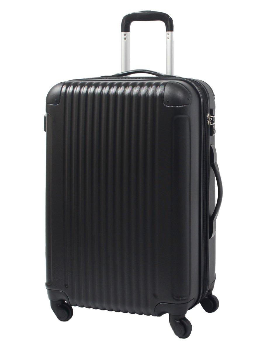 [グリフィンランド]_Griffinland TSAロック搭載 スーツケース キャリーバッグ かわいい エンボス加工 超軽量 newFK1212-1 ファスナー開閉式 S型国内国際線機内持込可 15色3サイズ B01GP2YLHY セット(M+S)|コスモブラック コスモブラック セット(M+S)
