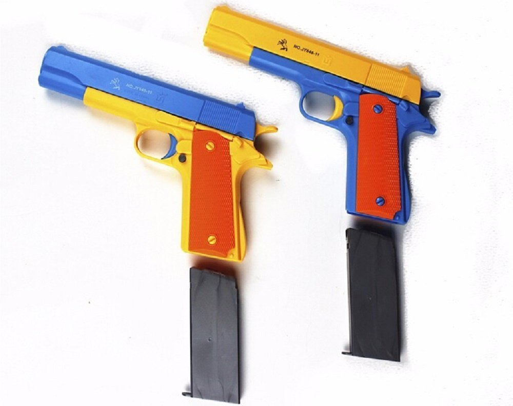 1 PCS Children's Mauser Toy Pistol Classic m1911, Kids Colorful Toy Gun with Soft Noctilucent Bullets, Teach Shooter and Gun Safety for Fun Outdoor Game and Children Safe Play (M1911) ANRAY