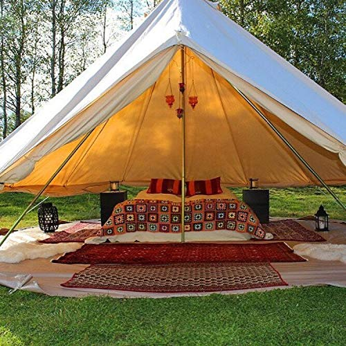 DANCHEL 20ft Canvas Bell Tents with Black Net and Grey Sheet Size 6M / 20 Feet & DANCHEL 20ft Canvas Bell Tents with Black Net and Grey Sheet Size 6M ...