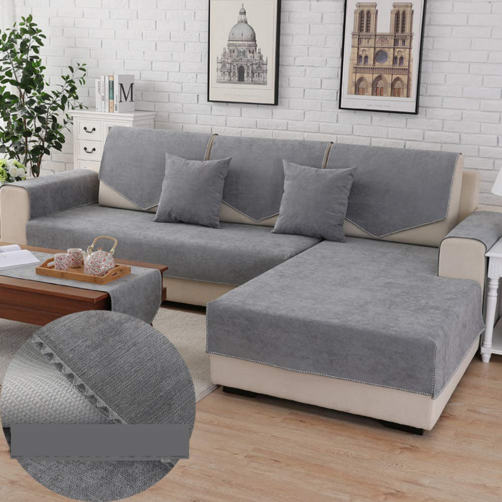 Waterproof Anti-Slip Sofa Cover, Pets Dog Sectional Couch Water Resistant Stain Resistant Multi-Size Sofa Covers Slipcover Furniture Protector -Sold by Piece-A Pillowcase 18x18inch DW&HX