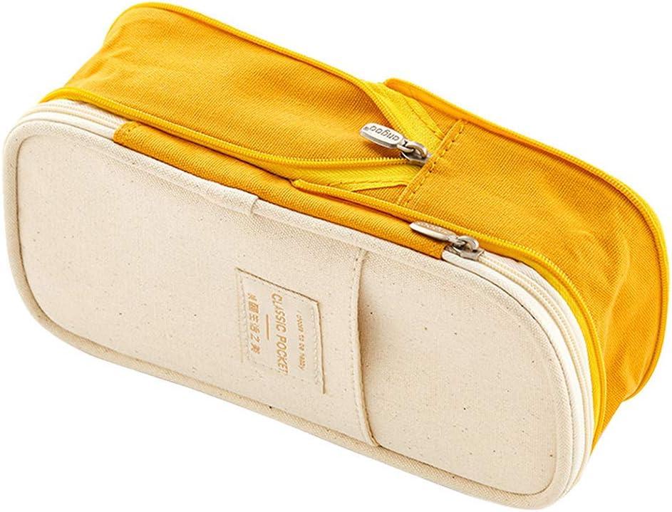 Rolin Roly Cartucheras Escolares Grande Plumier Case Bolso de Cosméticos Pencil Case (Yellow): Amazon.es: Oficina y papelería