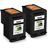 JARBO 302XL Cartucce Remanufactured HP 302 Nero Cartucce d'inchiostro Compatibili con HP DeskJet 3630 2130 2132 1110, HP Envy 4520 4527 4524, HP OfficeJet 3831 4650 5230 3835 3830 4658 (2 Nero)