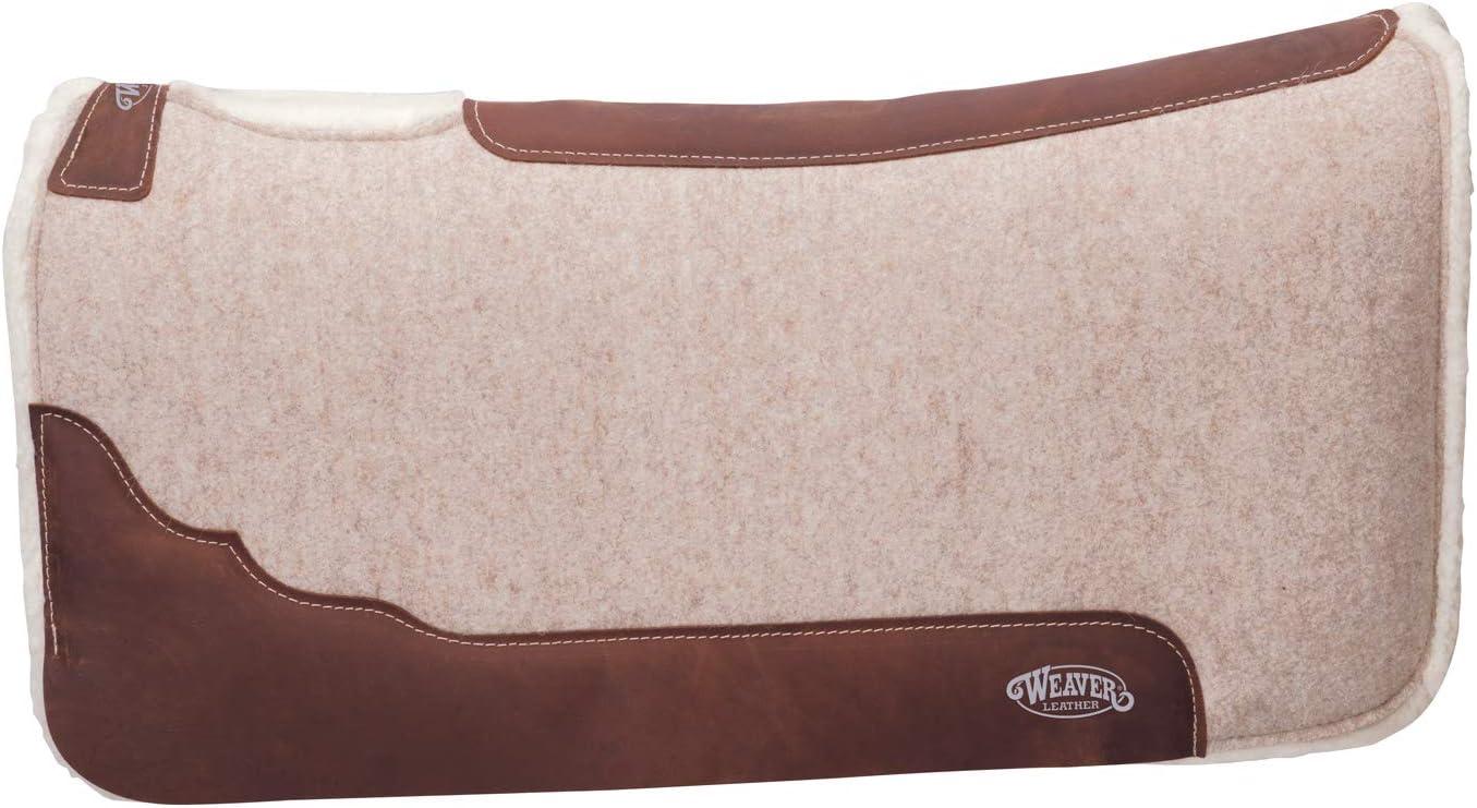 Weaver Leather 35-9329 Contoured Wool Blend Felt Saddle Pad, Tan
